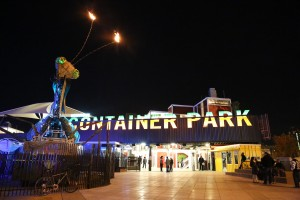 Container Park Las Vegas Under the Lights